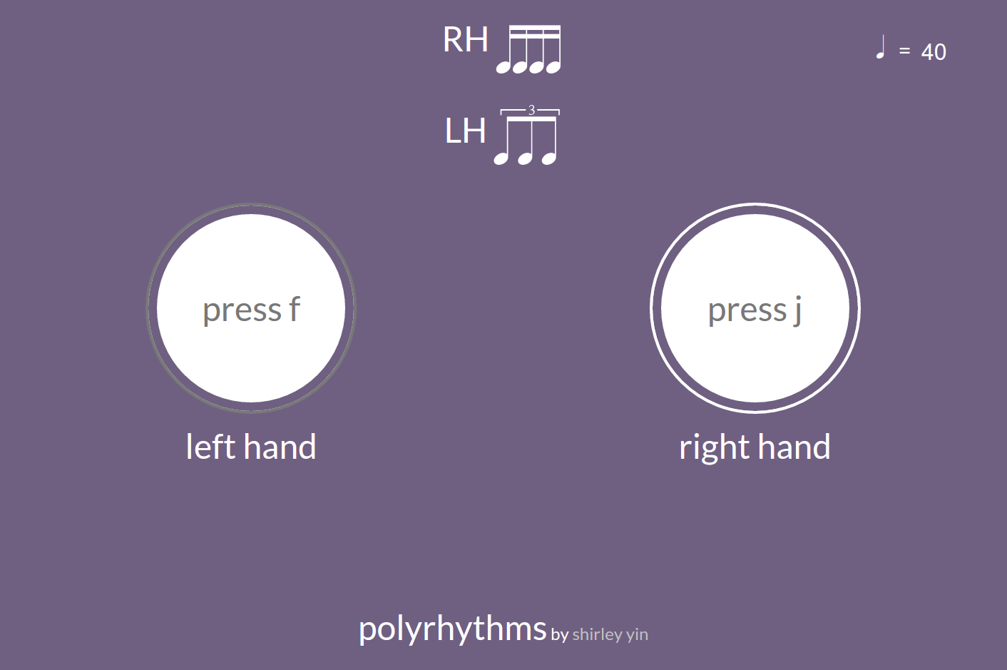 Screenshot of polyrhythms